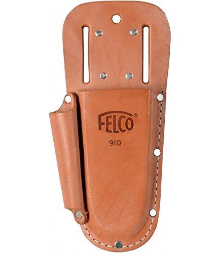 Felco Baumscheren-Träger Nummer 910 plus aus Leder mit Tasche, Braun, 35 x 15 x 5 cm