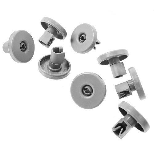 Zanussi Aeg Electrolux Lot de 8 grandes roulettes pour panier de lave-vaisselle