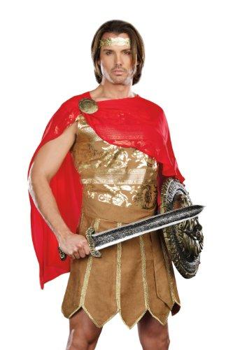 Dreamgirl Jungen Herren Caesar Kostüm Gr. Größe L, Gold,Red