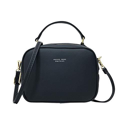 Coopay Damenhandtasche,Elegant PU Leder Umhängetasche für Frau Damen Mädchen Tasche,Große Kapazität Handtasche mit Reißverschluss,Universal Schultertasche für Handy Phone Bag Geldbörse,Schwarz