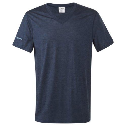 Bergans Bloom Wool T-Shirt, Farbe Navy Mel, Größe XL