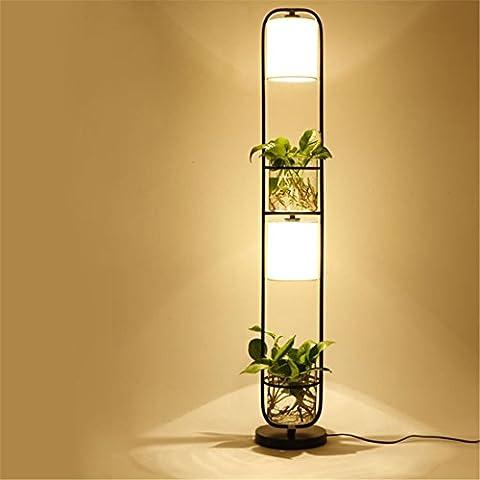 Moderne vert Plante Lampadaire, Pour ampoule E27 Hydroponique Herbe Titulaire Éclairage au sol Chambre Étude salon Environnement Décoration Lumière