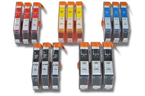 vhbw 15x kompatible Ersatz Tintenpatrone Druckerpatrone Set für Drucker HP Photosmart CN503B, CN216B, CN255B, CQ521B