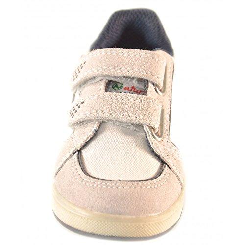 Naturino - Naturino Scarpe Bambino Bianca Blu Navy Strappi Velcro Sport 376 Bianco