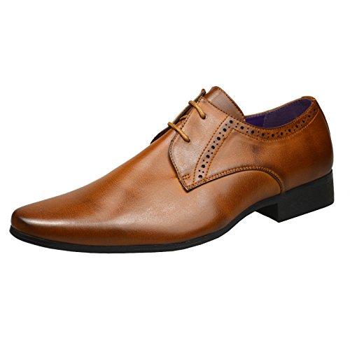Chaussures Pour Hommes Neuves Cuir Noir Habillées Élégantes Robe taille 39 40 41 42 43 44 Marron 2