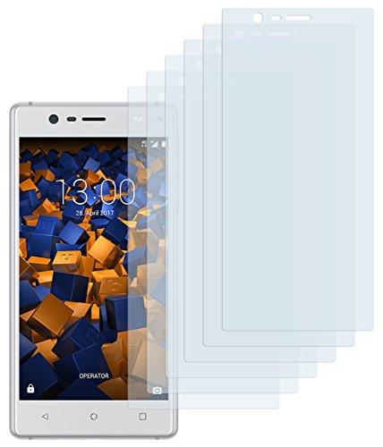 mumbi Schutzfolie kompatibel mit Nokia 3 Folie klar, Bildschirmschutzfolie (6x)