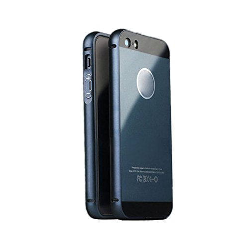 Meily De aluminio de lujo del capítulo del metal + acrílico Volver Funda para iphone5S 5