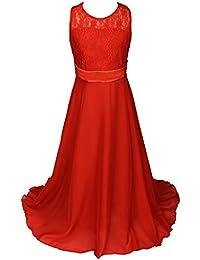Rojo Ropa Vestidos Niña Amazon es 5RxwcY