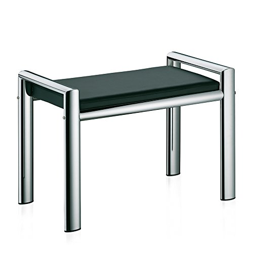 Kela 21987 Sitzhocker, Metall, 66,5x 38,5x 48,5 cm, Lunis, Schwarz