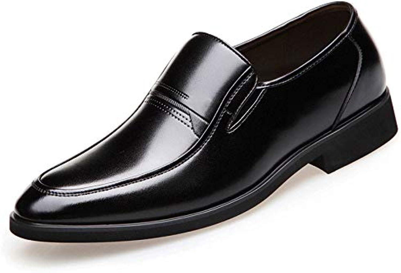 Koyi Zapatos de Cuero de los Hombres de Primavera y Verano Zapatos Ocasionales de Negocios Transpirables Conjuntos...
