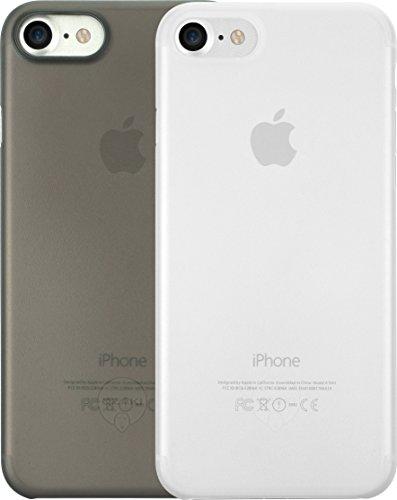 Ozaki O!Coat 0.3 Jelly Slim 2 in 1 Schutzhüllen Set für Apple iPhone 7 / 8 [Schwarzes und transparentes Cover | 0.3mm dünn | 4g leicht | Extrem passgenau | Transparent] - OC720CK