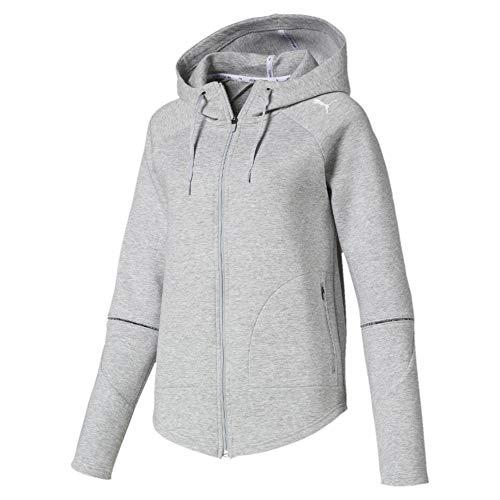 Puma Damen Evostripe Move Hooded Jacket Sweatjacke, Light Gray Heather, XL Die Performance Light Jacket