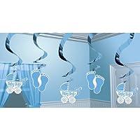 Amscan 679659 Baby Shower Boy Hanging Swirls Decoration Set