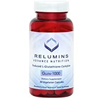 Gima Relumins Advance Nutrition Reduced L-Glutathione Complex Gluta-1000 Supplements (Made In Usa)
