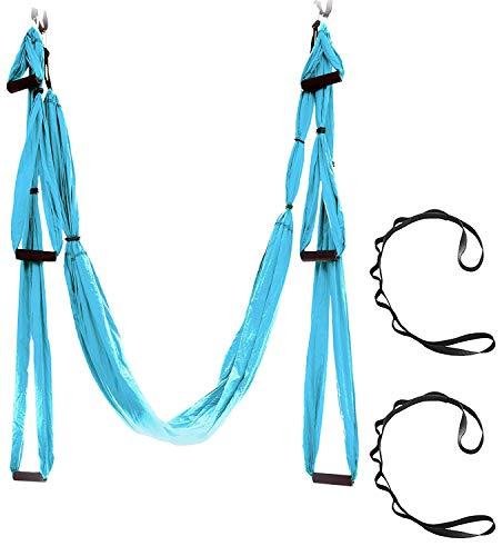 YUCH Lit D'Oscillation D'Intérieur De Tissu D'Intérieur De Tissu De Parachute De Hamac, Bleu