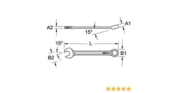 KS Tools EDELSTAHL Ringmaulschlüssel 13mm abgewinkelt