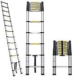 Easy Climb Telescopic Aluminium Ladder 4.4 Meter (14.5 Feet) - Stores At 3.2 Feet - A Frame 14.5 Feet - Wall Support 17 Feet