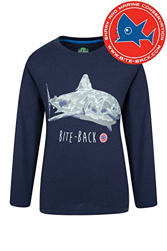 Shark Kinder Sweatshirt (Mountain Warehouse Steve Backshall Shark Kinder T-Shirt Blau 164 (13 Jahre))