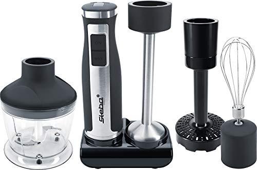 Steba Stabmixer-Set MX 40, Mixstab aus Edelstahl, 8 Geschwindigkeitsstufen von 7 000 bis 14 000 U/Min., 7 Aufsätze, LED-Display, Spülmaschinengeeignete Teile