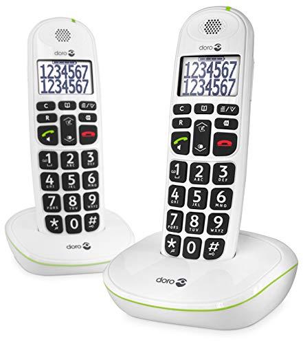 Doro PhoneEasy 110 Telefono Cordless con Tasti Grandi e Audio Amplificato (X...