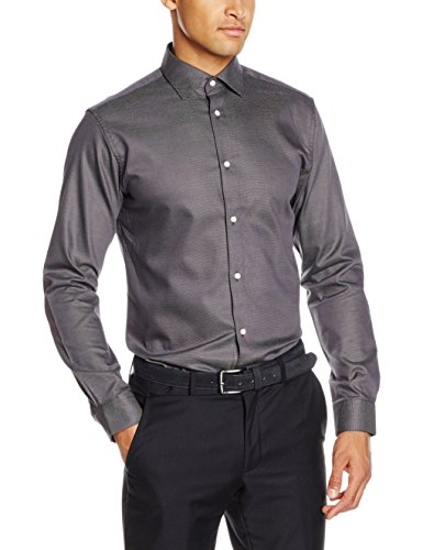 SELECTED HOMME Herren Langarmshirt Shdtwotim-Luca Shirt LS NOOS Grau (Grey)