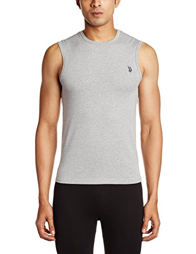 U.S. Polo Assn. Men's Cotton Muscle T-Shirt  (I026-010-P1-S Grey Melange)  available at amazon for Rs.239