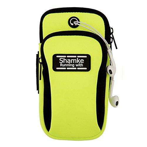 Outdoor Sports Running Fitness pacchetto del braccio del braccio del telefono mobile per il telefono di 5.0 pollici ( Colore : Rose red ) Verde