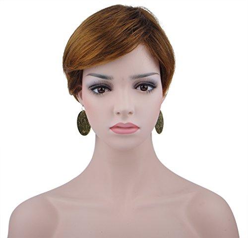 Spretty Brillante caschetto corto stile parrucca sintetica delle donne per Anime Cosplay (Lino