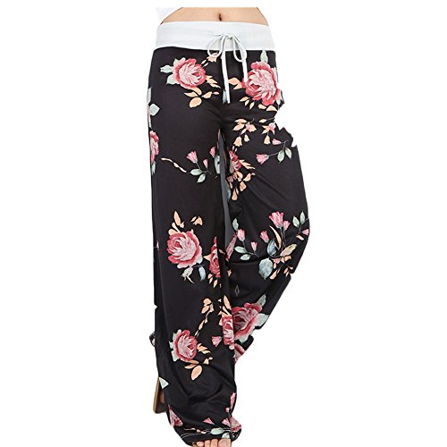 Womens Ladies Floral Paisley Flared Printed Wide Leg Palazzo Trousers Pants Stretch Plus Size High Waist Palazzo Leggings
