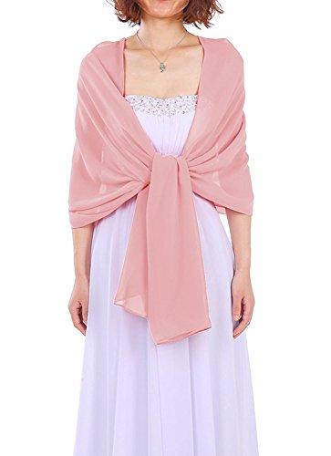 Dressystar AMY333 Chiffon Stola Schal für Kleider in verschiedenen Farben Blush 200*75cm