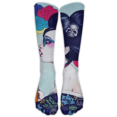 Galaxy Sad Goth Gotik Gothic Women Girl Art Socken Classic Fancy Design Multi Colorful Crew Knee Running Soccer Stockings -