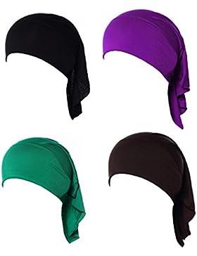 GladThink 4 X La Mujer Musulmana Mini Interior Hijab Caps Underscarf