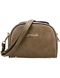 Rrimin Women's Mini PU Leather Handbag Tote Shoulder Bag Crossbody Bag
