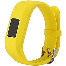 For Vivofit JR.2 Bands, Large Replacement Wristbands for Garmin vivofit JR2, Active Bright Colors Silicone Straps for Garmin vivofit jr. 2, Yellow