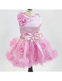 LadyBeauty Ropa para Mascotas Cat and Gog Elegant Rose Falda para el Vestido Cat Dog Supplies