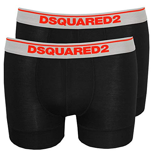 1319b7ccde DSquared2 2-Pack Low-Rise Men's Boxer Trunks in Modal Stretch, Black X