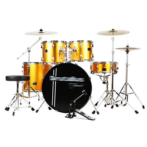 Percussion Trommeln Erwachsene Kinderselbstlerntrommeln Getting Begann Mit Dem Üben Von Professionellen Trommel-Set-Percussion-Instrumente Kinderspielzeug (Color : Gold, Size : 120 * 100CM)