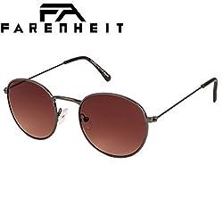 Brown Round Unisex Sunglass By Farenheit |FA-9304-C4|