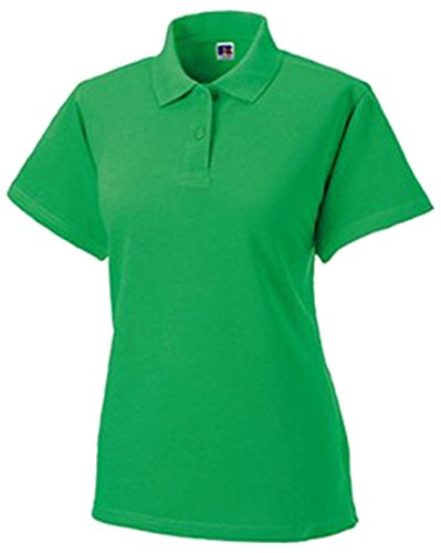 Russell donna in cotone-piquet Polo a maniche corte Apple Green