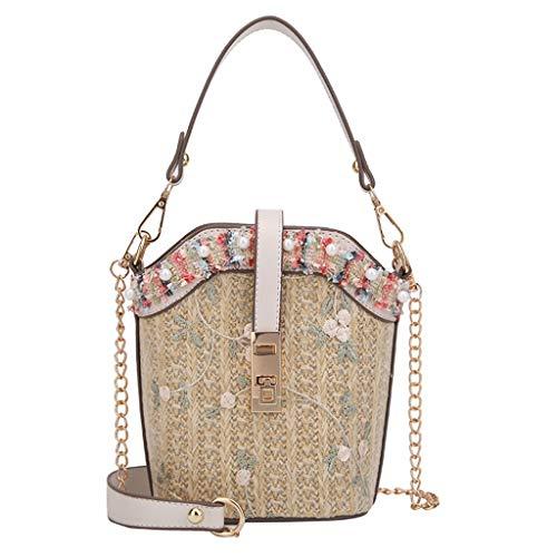OIKAY Mode Damen Tasche Handtasche Schultertasche Umhängetasche Mode Neue Handtasche Frauen Umhängetasche Schultertasche Strand Elegant Tasche Mädchen 0605@071