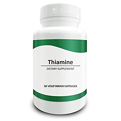 Pure Science Vitamin B1 Thiamine 100mg - Thiamine Supplement to Alleviate Symptoms of Thiamine Deficiency - 50 Vegetarian Capsules of Vitamin B1 Powder from Pure Science