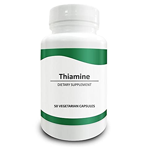 Pure Science Vitamin B1 Thiamine 100mg - Thiamine Supplement to Alleviate Symptoms of Thiamine Deficiency - 50 Vegetarian Capsules of Vitamin B1