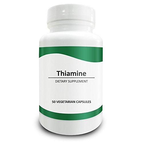 Pure ScienceVitamineB1Thiamine100mg-supplémentdeThiaminepoursoulagerlessymptômesdecarence enThiamine-50CapsulesvégétariennesdepoudredevitamineB1