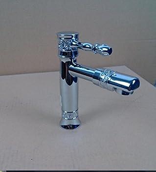Amzh Basin Taps Gravity Die Casting Zinc Alloy Single Hole Rotating Head Bathroom Sink Faucet 1