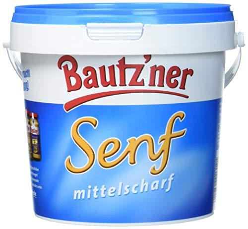BAUTZ'NER Mittelscharfer Senf, 6er Pack (6 x 1 l)