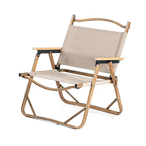 Gangkun Holz Klappstuhl, Büro Wohnzimmer Mittagspause Tourismus Camping Angeln tragbaren Liegestuhl@Brown - Kategorie Holz Bürostühle