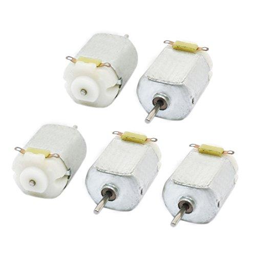 Sourcingmap - 5pcs dc 3-6v 2000 giri velocità di rotazione fai da te giocattolo 2 pin mini morsetti del motore