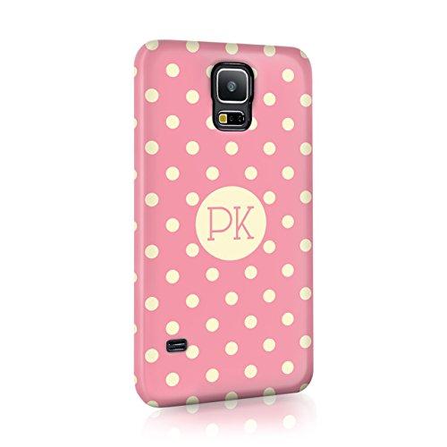 Pink Flowers Body Cream (personalisierbar Shabby Chic Floral Polka Dots Case Hard Cover Custom tirita Initialen Name Text trendige Fashion Geschenk Geschenk, plastik, 14, Samsung Galaxy Grand 2)