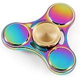 Magicfly – Nuevo Tri Fidget Hand Spinner Jugete Mano Spinner Metal EDC / Cojinete de Alta Velocidad Girar Mas de 5 Minutos Perfecto para ADD ADHD Ansiedad y Autismo Adultos o Niños (Multicolor)