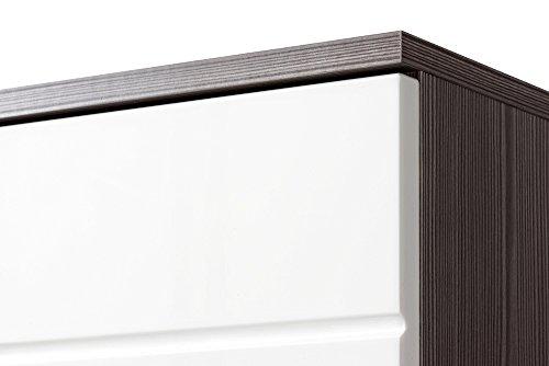 Cosmo Badmöbel Set / Komplettbad 6-teilig in Weiß Hochglanz / Avola Dekor - 9